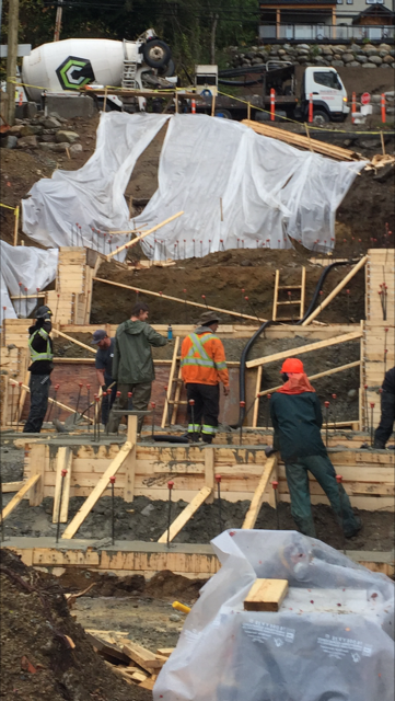 Always a pleasure working with Summerhill Fine Homes crew even though we got very wet the footing pour went well.