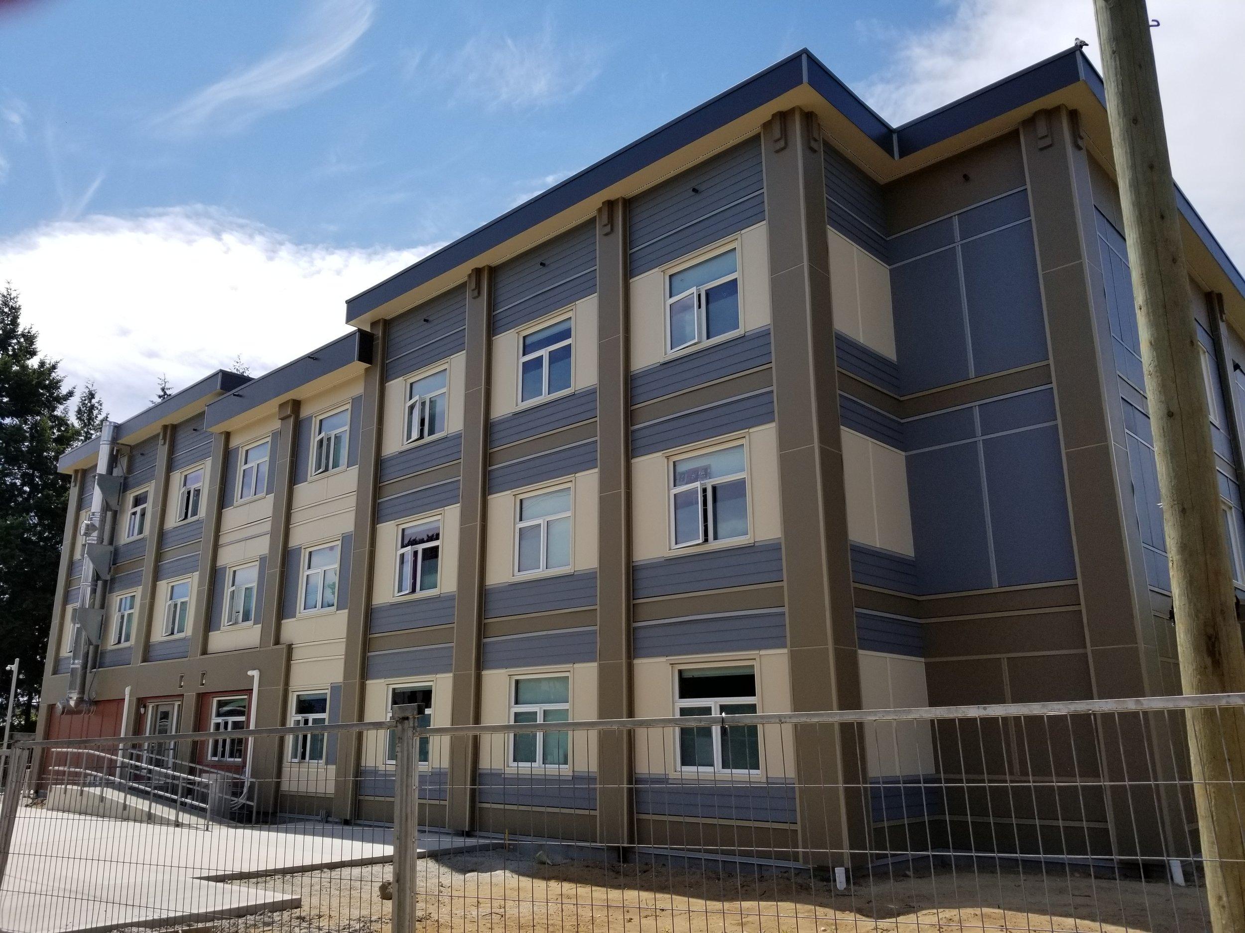 Sechelt's new Modular housing project built by    Spani Developments