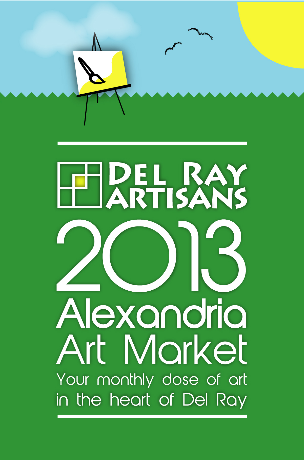 Postcard design for Alexandria Art Market. Design by Tamara Wilkerson