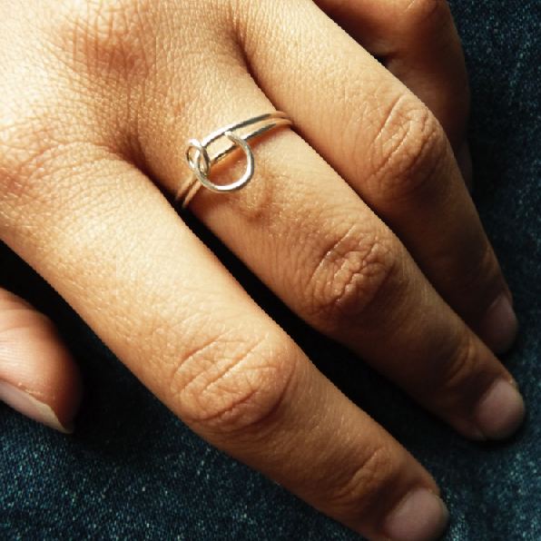 Silver Lining Collection from WiRealm by Tamara: Single Knot ring in Sterling Silver