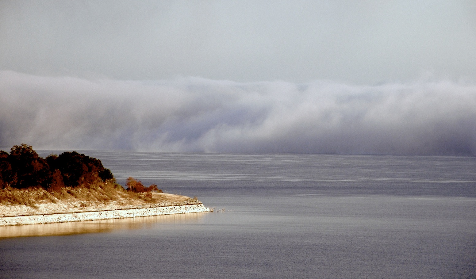 Fog Bank rolling in over the lake