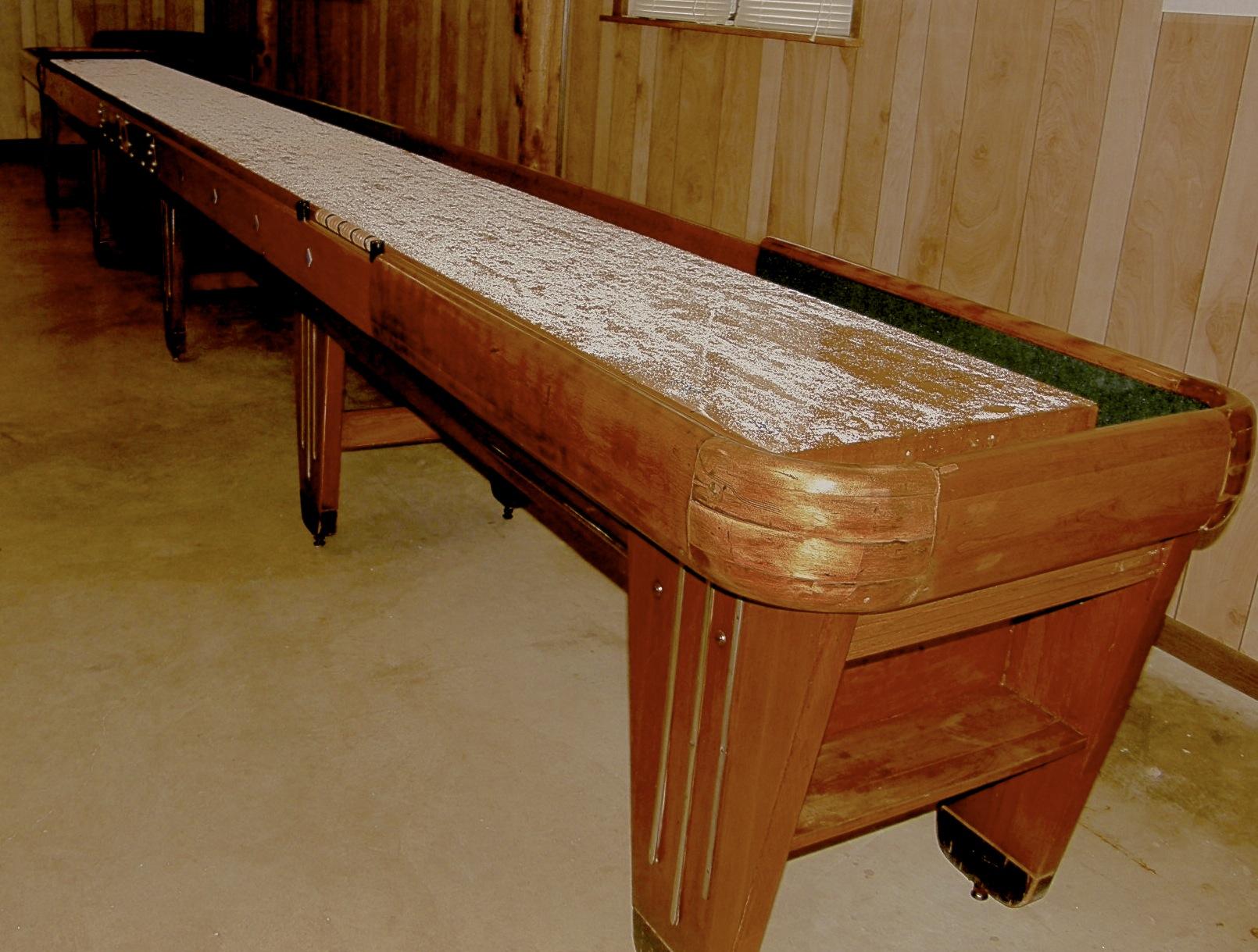 Shuffleboard table.