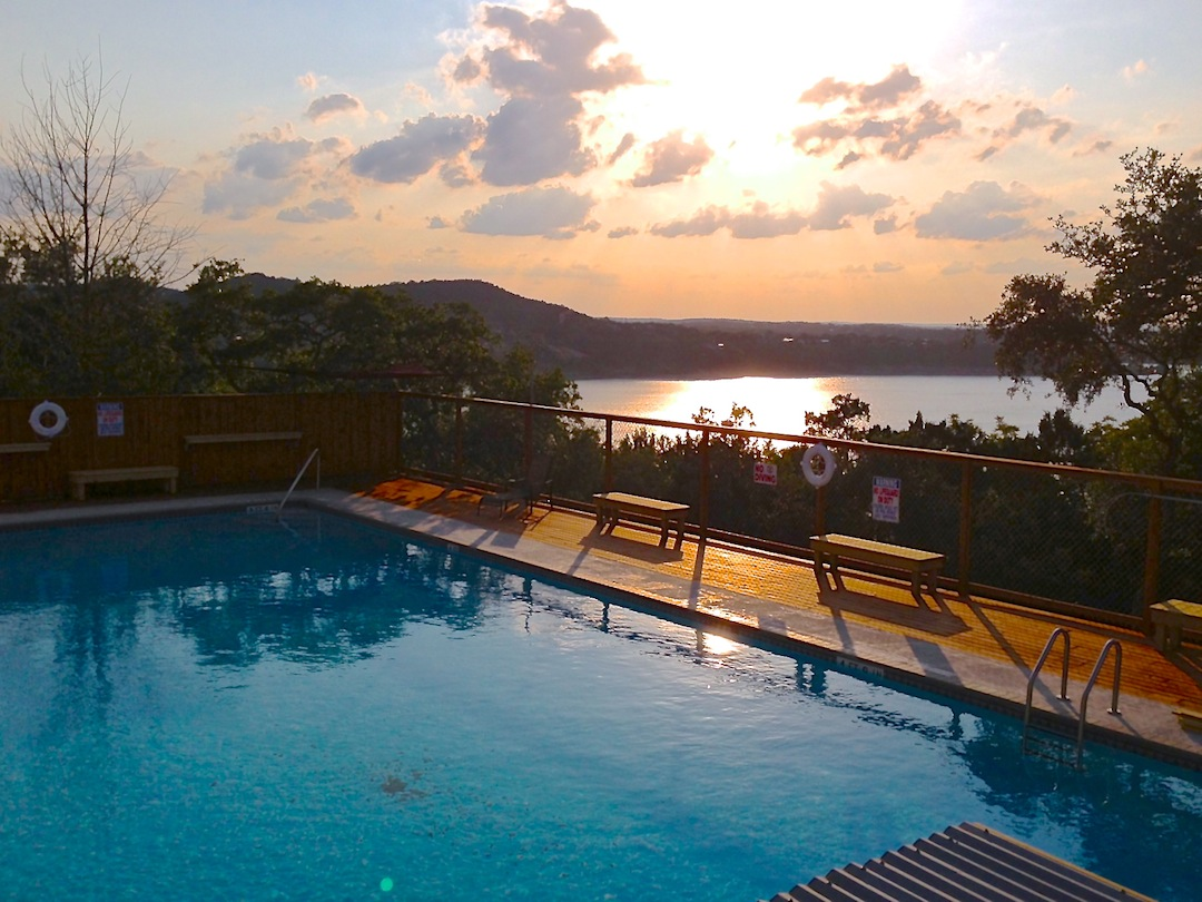 Did I mention the view from the pool?. . .
