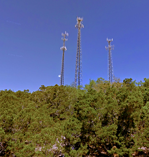 The Village's Cell Towers, just off Skyline Dr