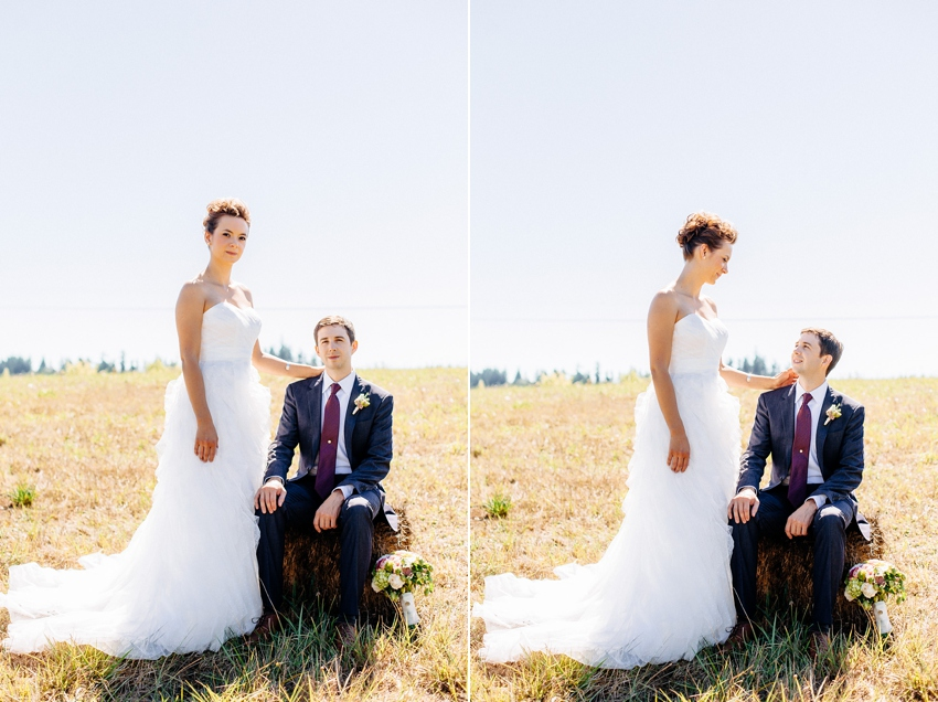 The couple together at their Newell House Oregon Wedding by Catalina Jean Photography