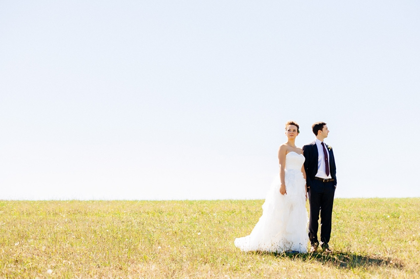 Newell House Museum has a beautiful field. The bride and groom at their wedding by Catalina Jean Photography