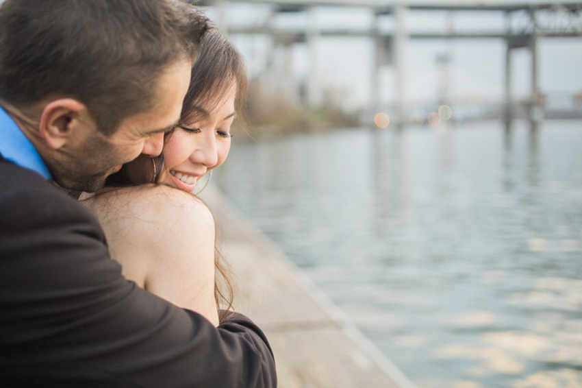 Downtown Portland engagement by Catalina Jean Photography