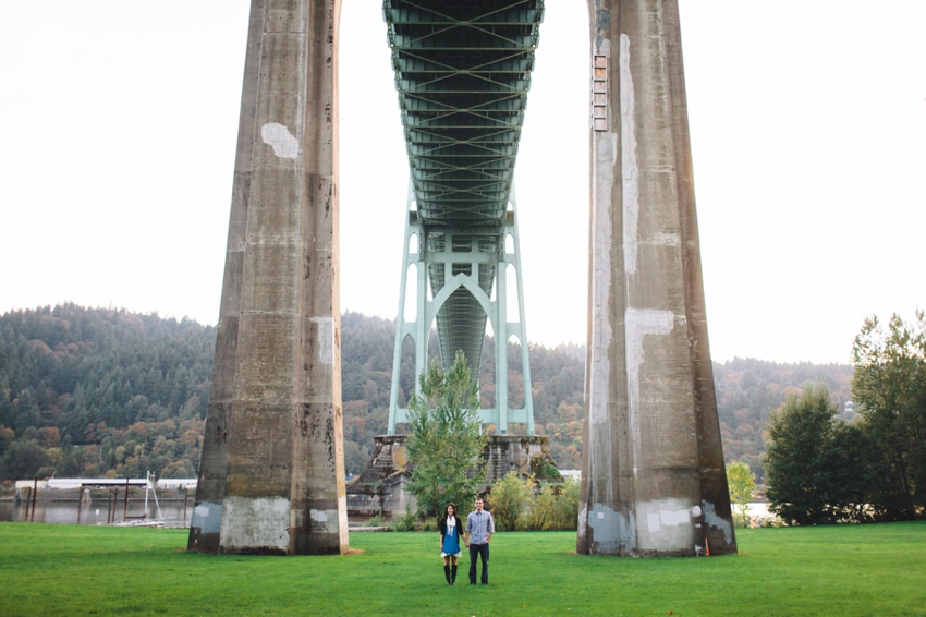 Cathedral Park engagement by Catalina Jean Photography