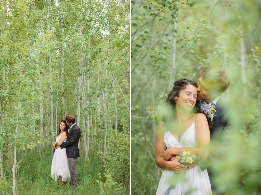 The bride and groom at their Bend Oregon wedding by Catalina Jean Photography