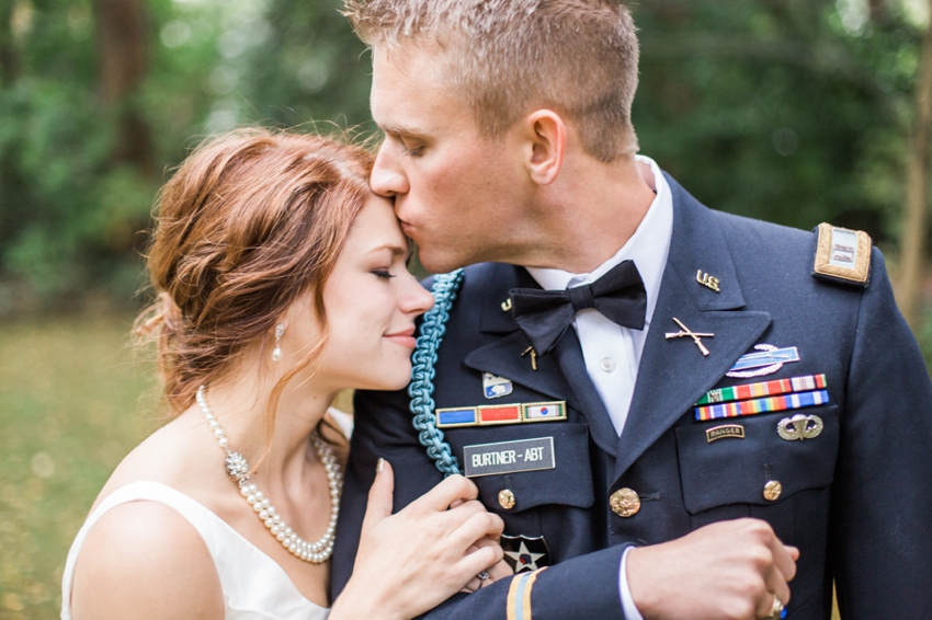A solider and his gal at their NW wedding by Portland Oregon Wedding Photographer Catalina Jean.