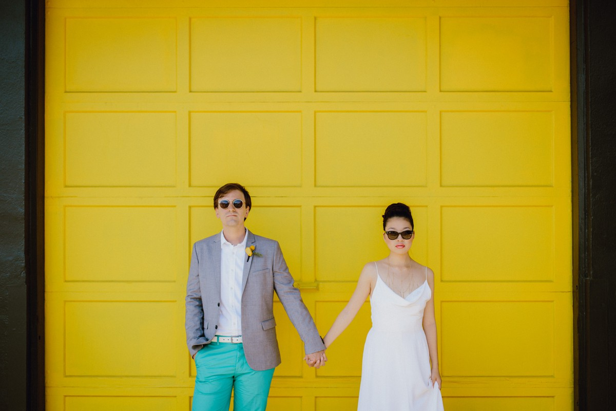 A bright, alternative bride and groom Portland wedding inspiration