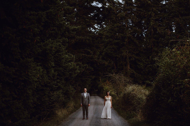 A Lummi Island bride and groom portrait by Portland Wedding Photographer Catalina Jean