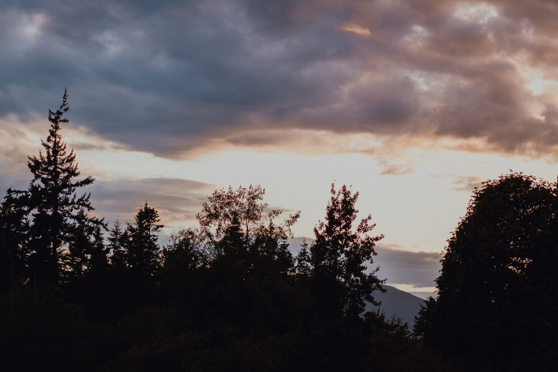 A Lummi Island sunset