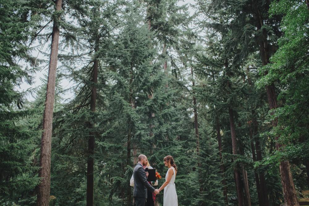 A wedding at Mount Tabor in Portland Oregon