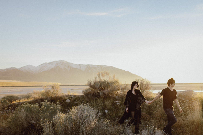 Desert engagement photo