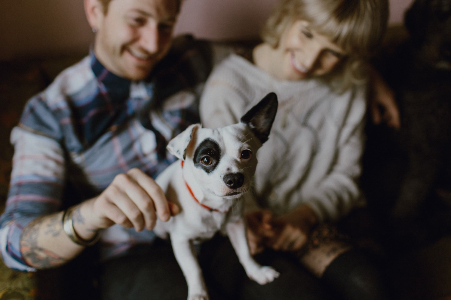 Portland engagement photography with dogs