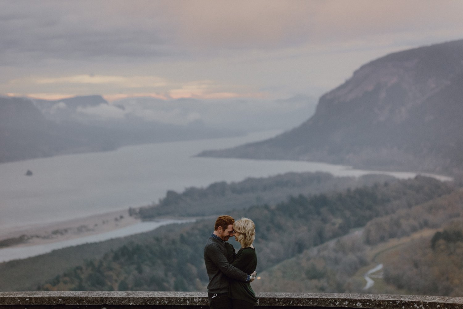 Columbia Gorge engagement photography by Portland wedding photographer Catalina Jean