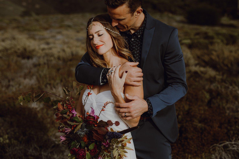 A wedding portrait by Portland Wedding Photography Catalina Jean