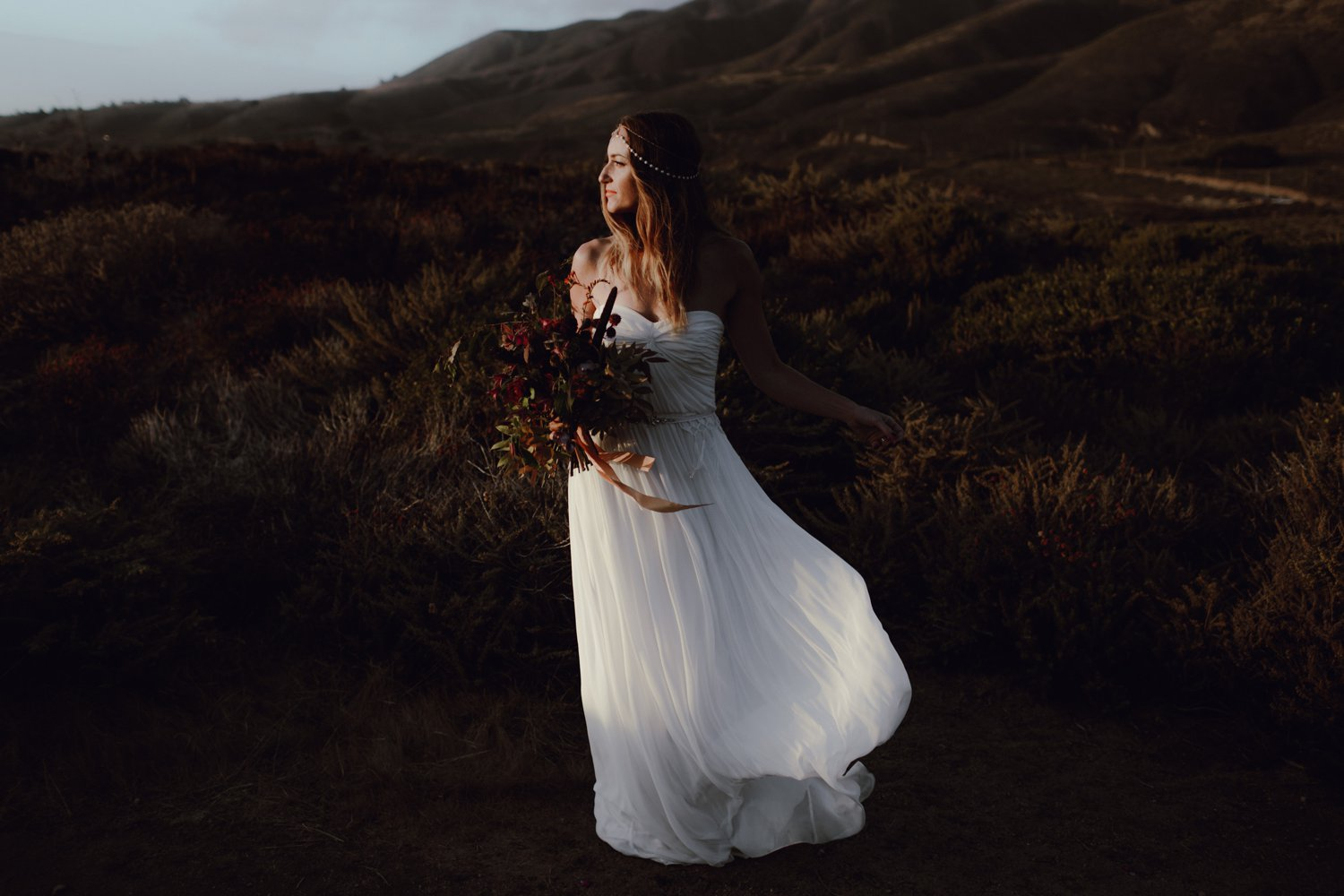 A candid bride portrait by Portland OR Wedding Photographer Catalina Jean