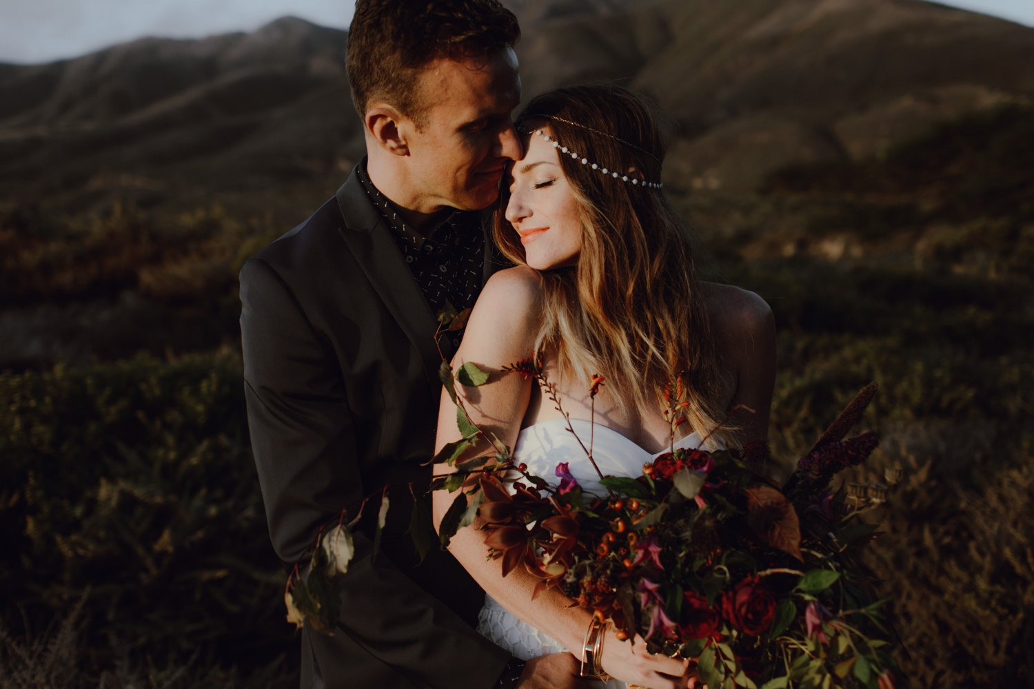 A wedding portrait by Catalina Jean Photography
