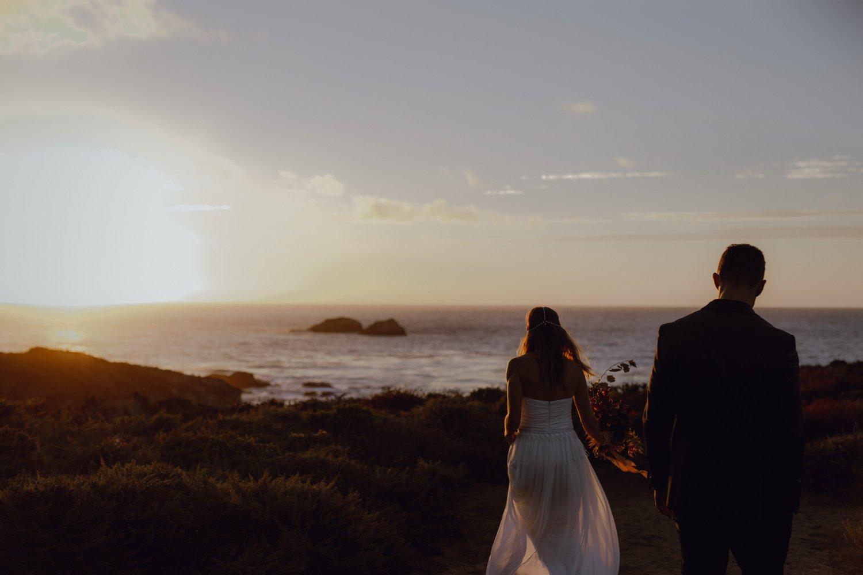 Beach ocean coastal elopement photo in Big Sur by Catalina Jean Photography