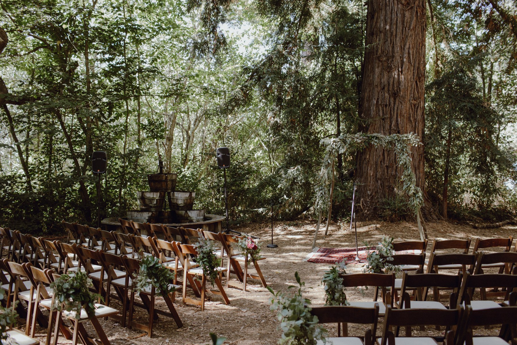 Redwoods ceremony site at Sand Rock Farm