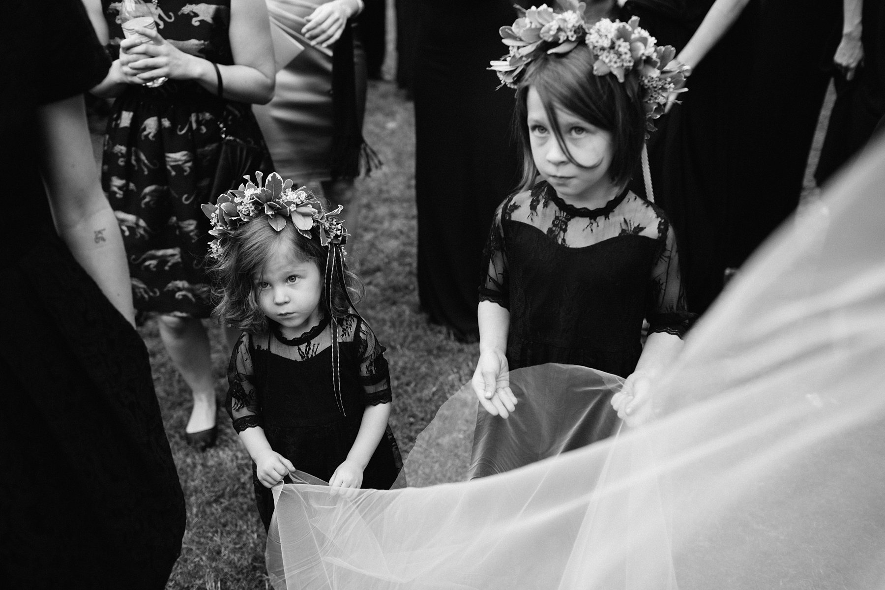 Flower girls at a wedding by Georgia photographer Catalina Jean