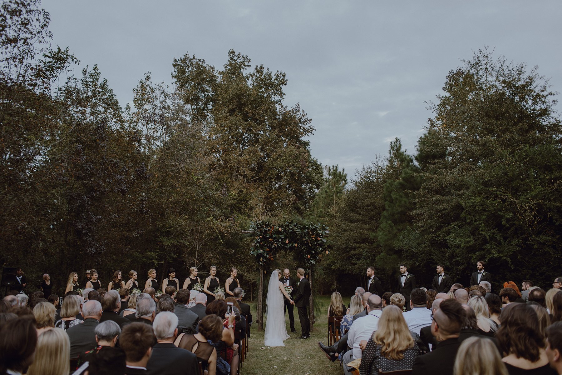 Wedding ceremony site at Sweet Olive Farm