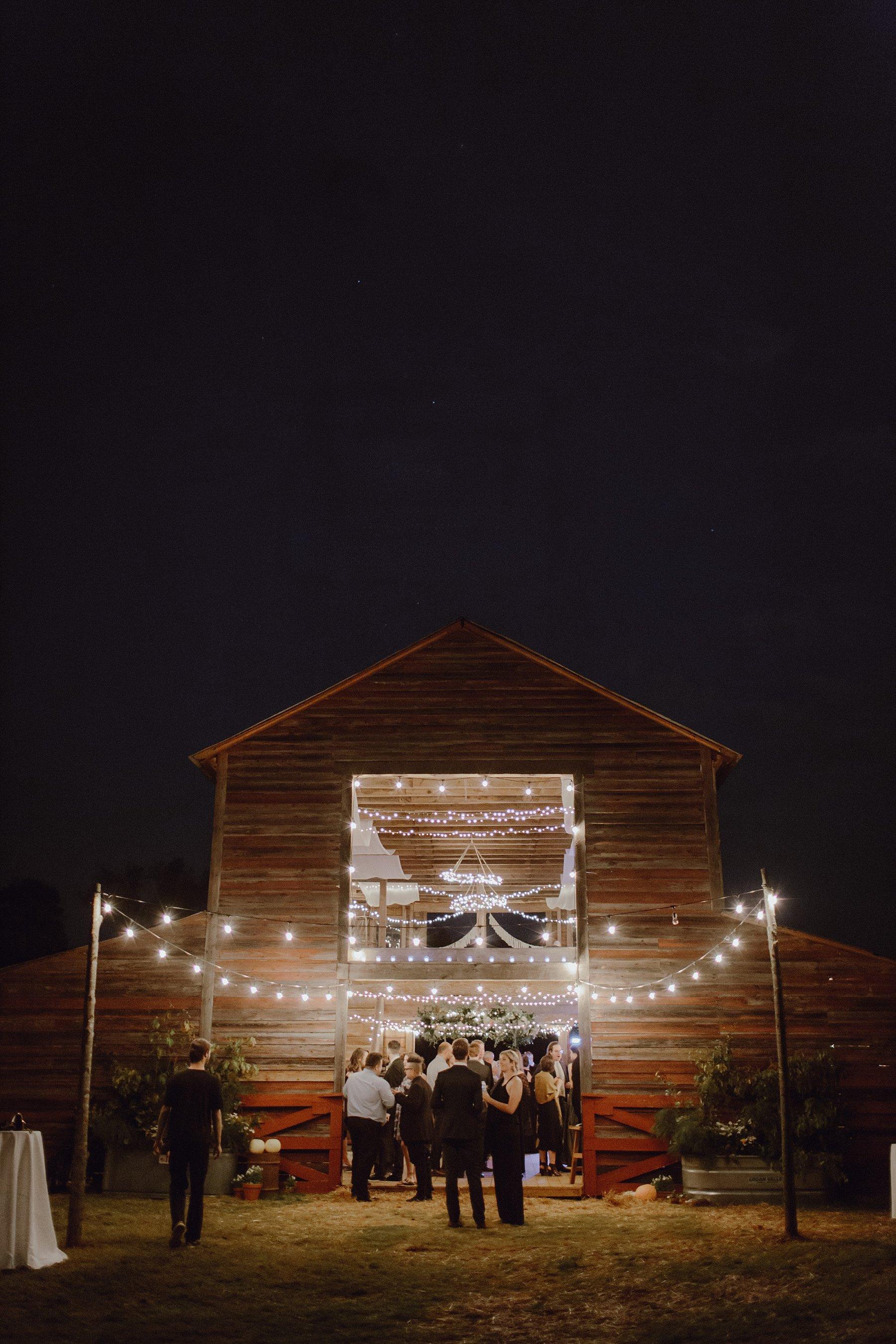 Sweet Olive Farm at night