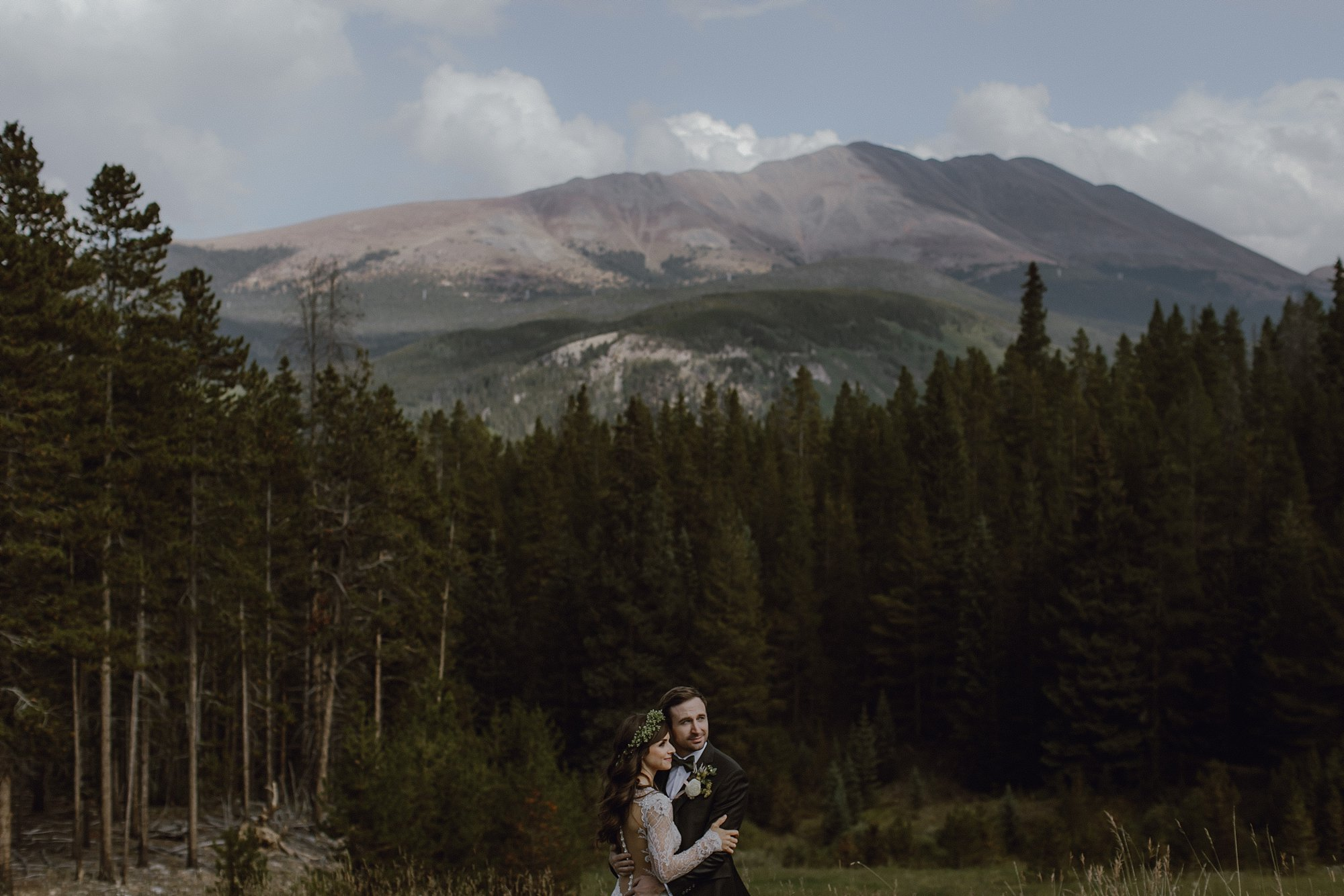 A wedding up in the mountains of Breckenridge, CO