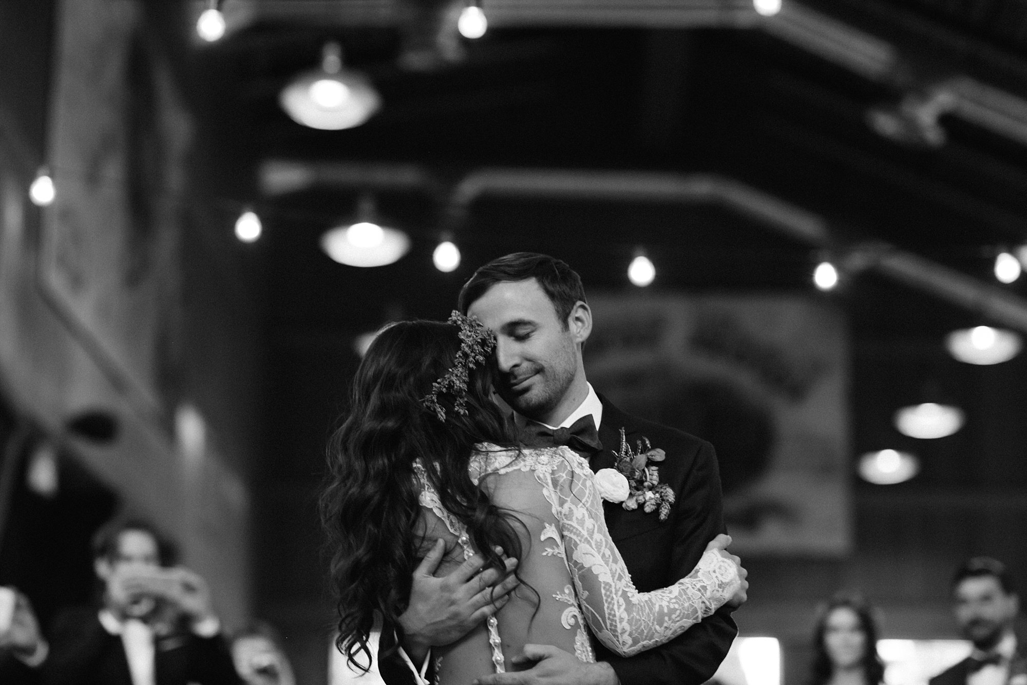 A first dance at a Ten Mile Station wedding