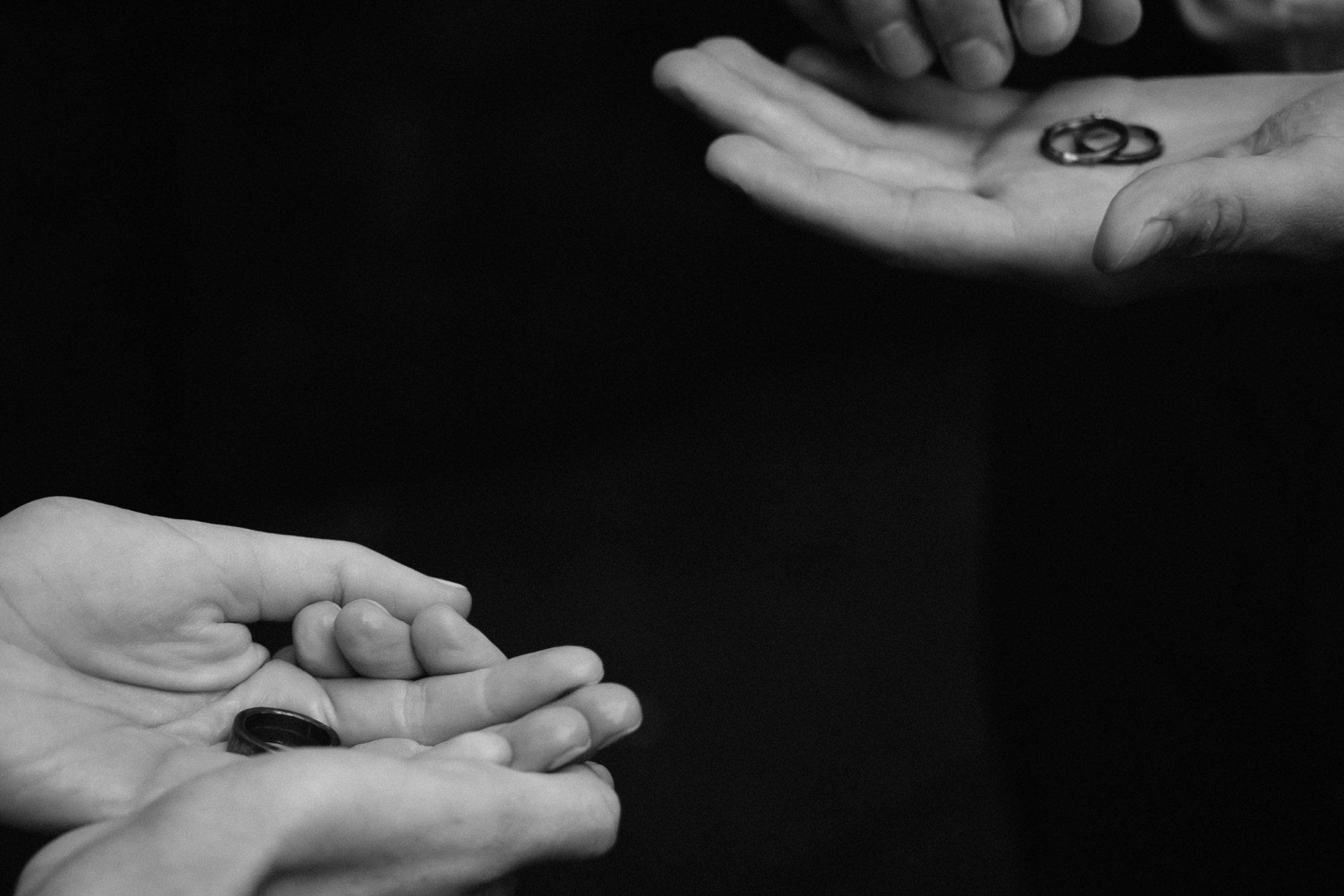 Wedding rings at a Latourell Falls elopement