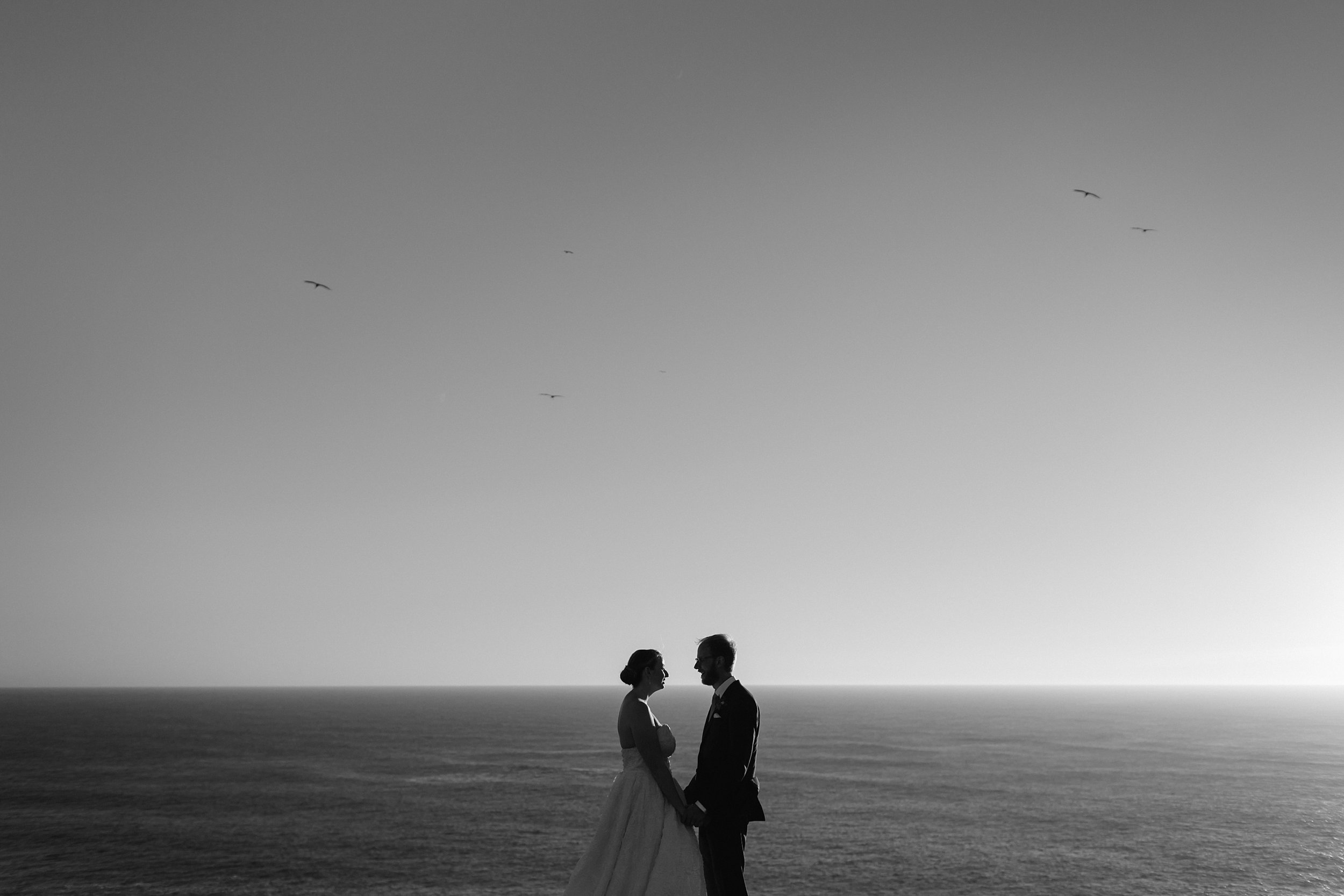Wedding ceremony at the Marin Headlands in California