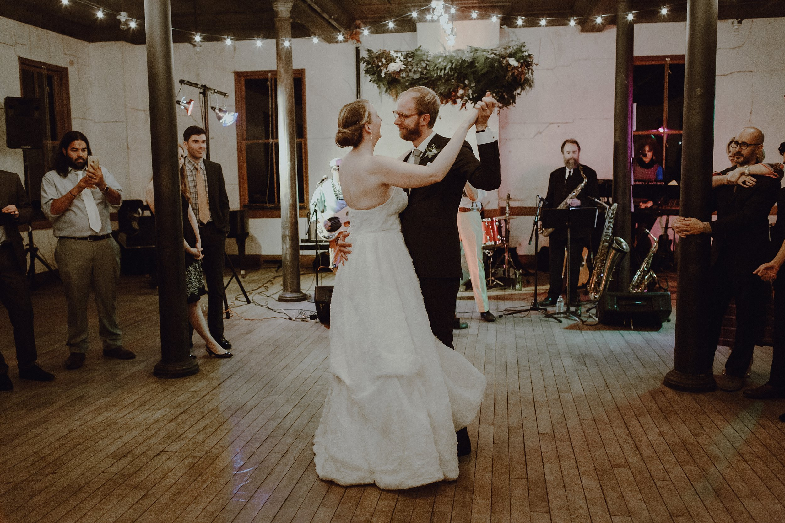 The first dance at a Headlands Center for the Arts wedding