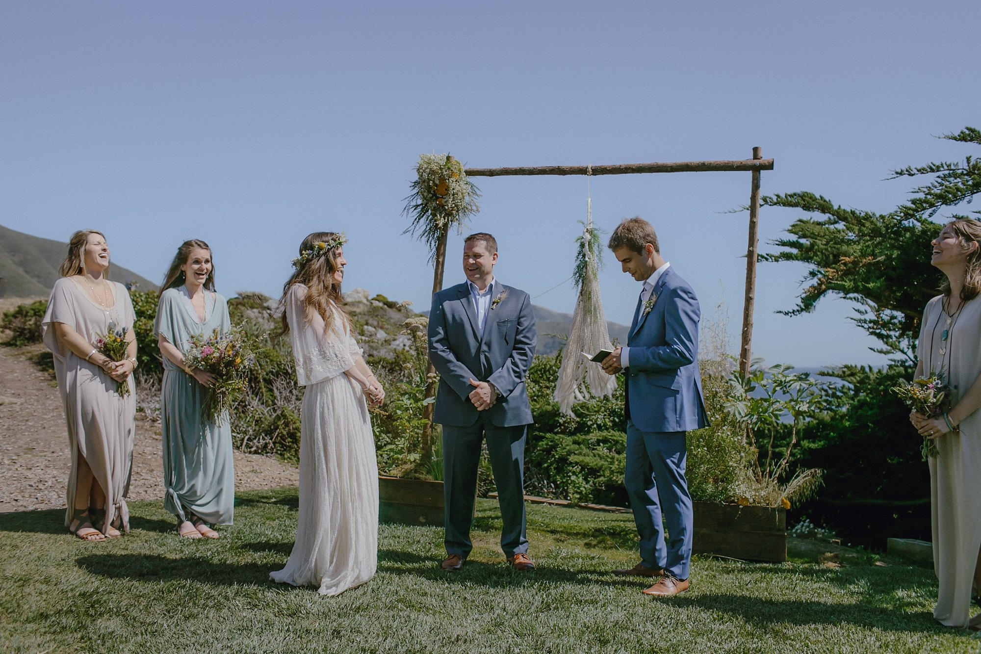 A wedding ceremony in Big Sur