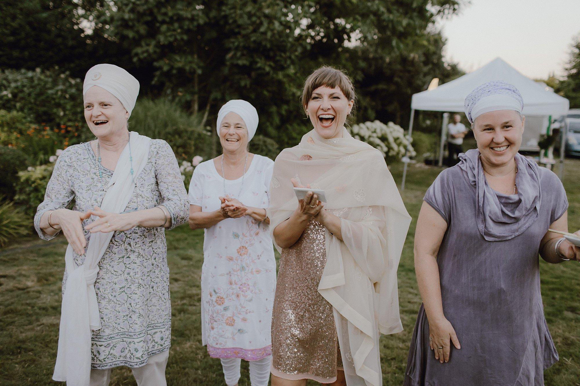 Bohemian-inspired sikh wedding reception