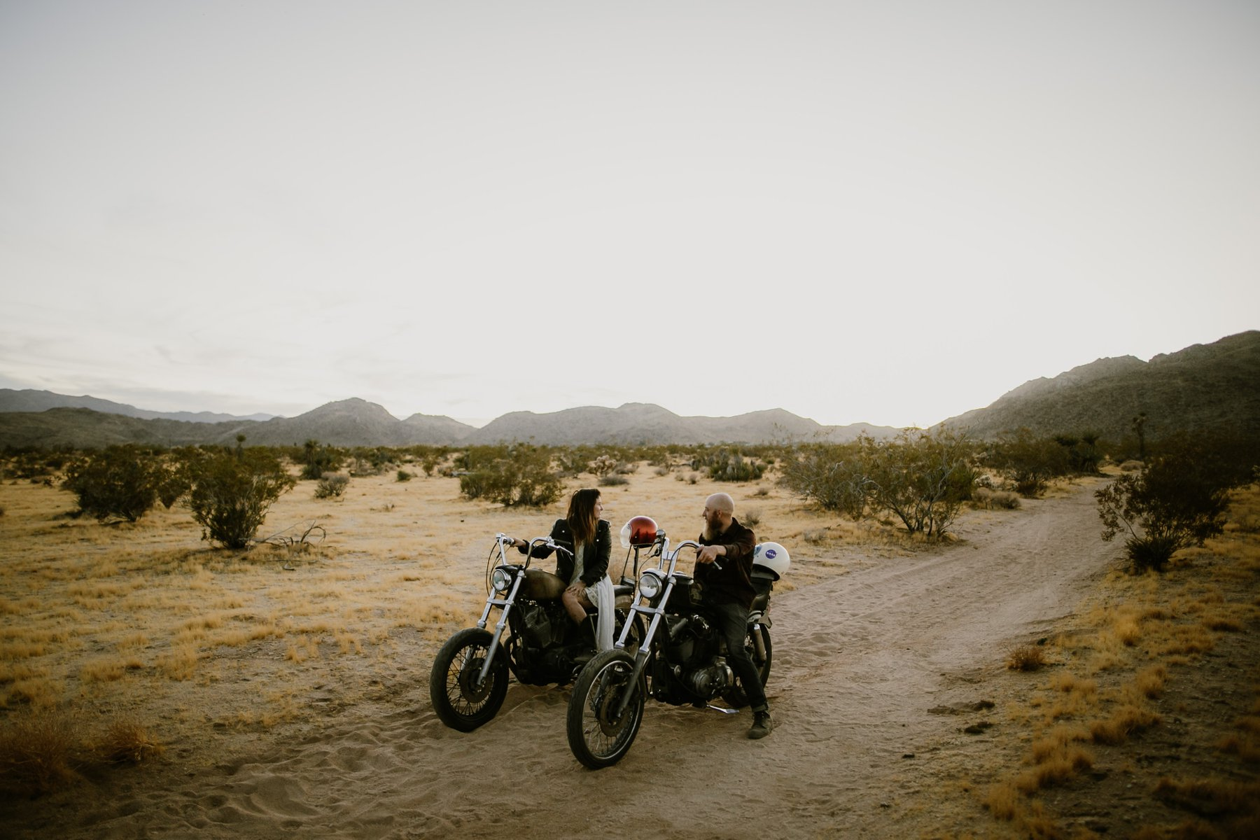 A photo at a motorcycle elopement