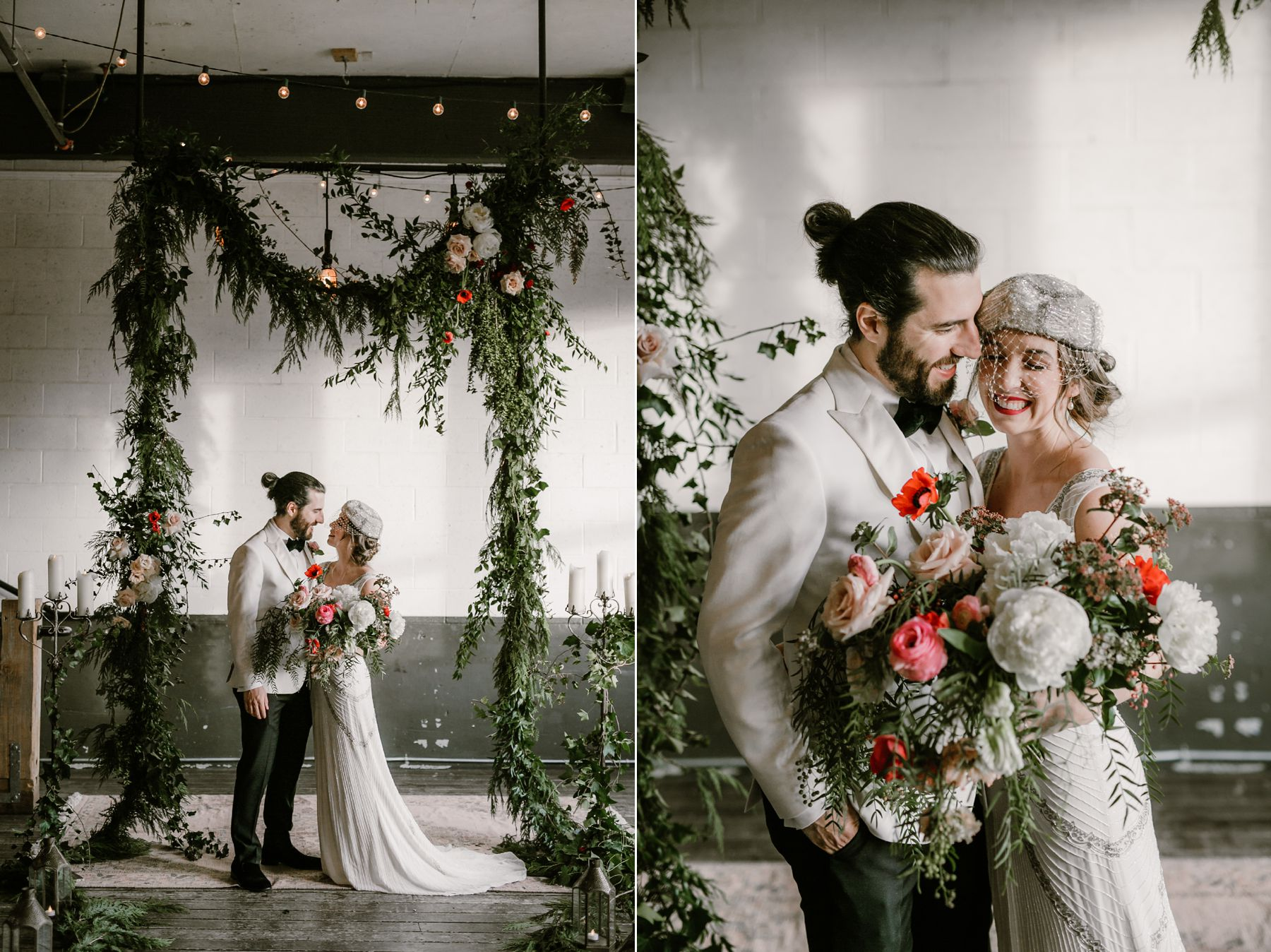 Ceremony decor at a Union/Pine wedding