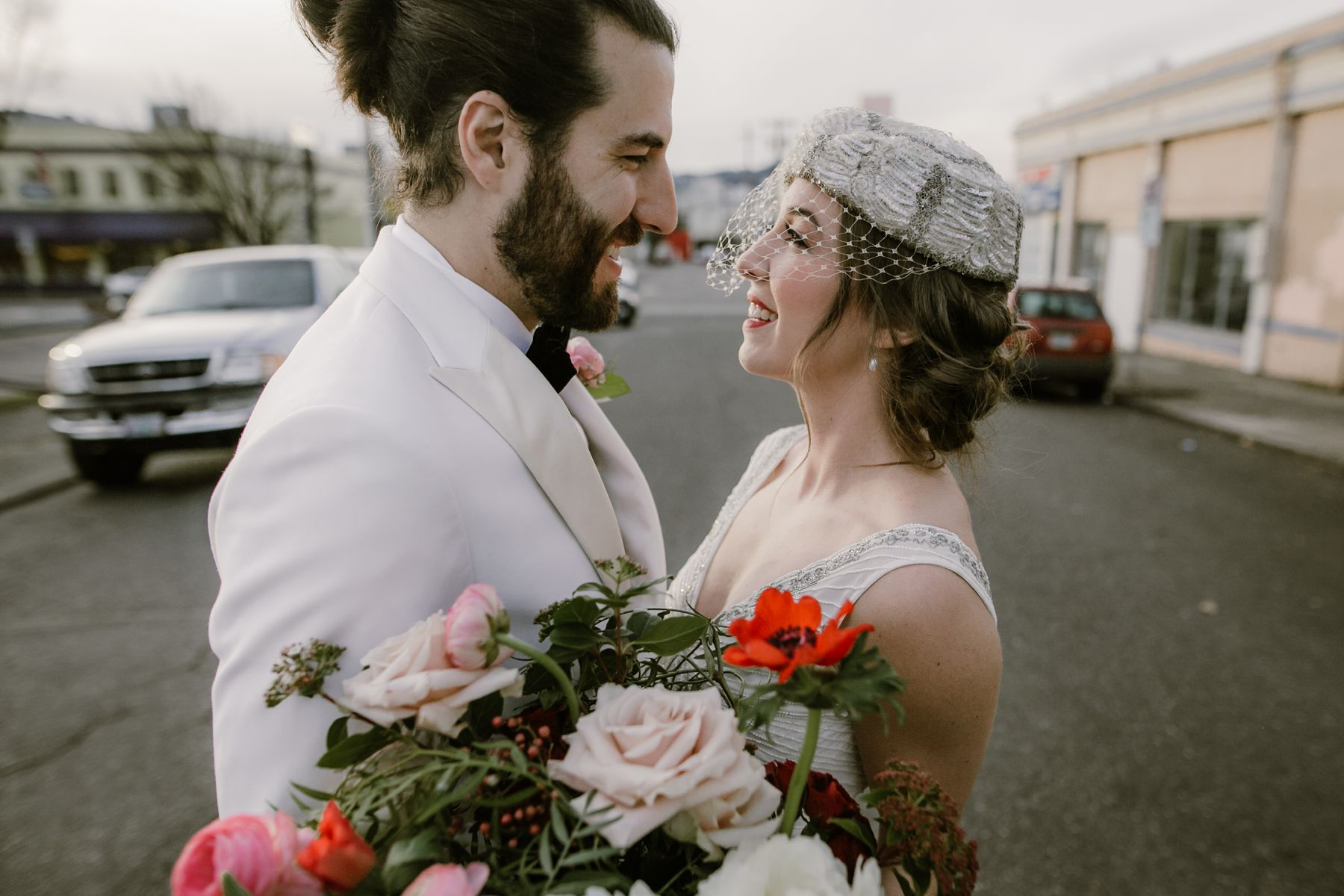 Photo of a bride and groom at Union Pine