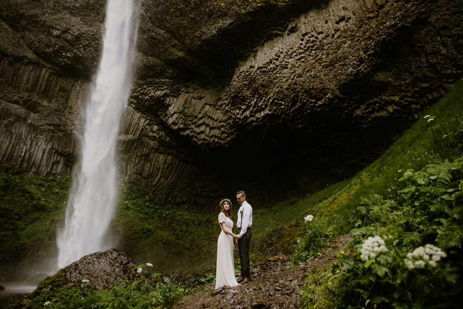 The Columbia Gorge - Stunning overlooks, hundreds of waterfalls, and a pit stop in Hood River for a great beer - the Columbia Gorge is a favorite location for elopements.