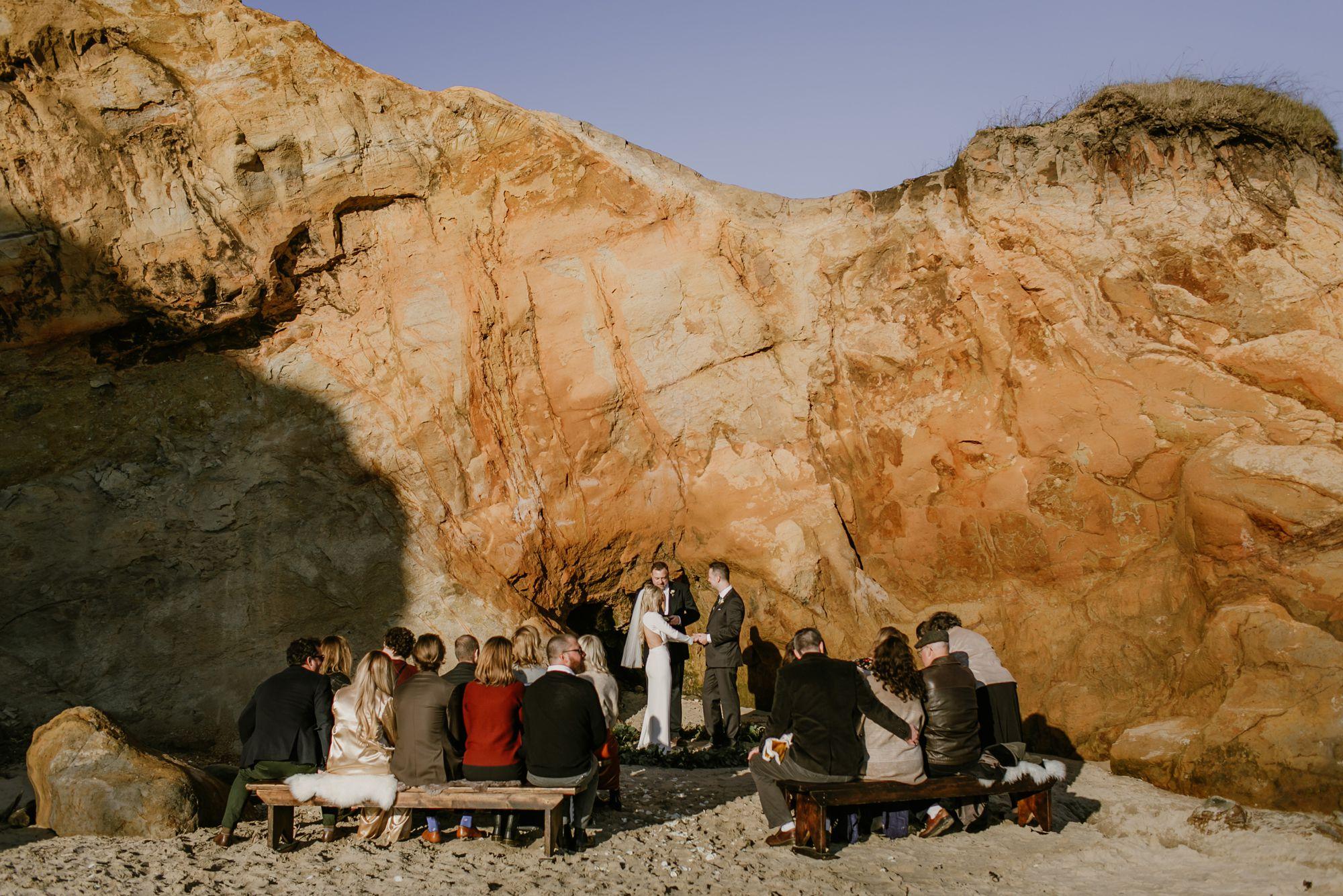 Oregon Coast Wedding ceremony at Cape Kiwanda