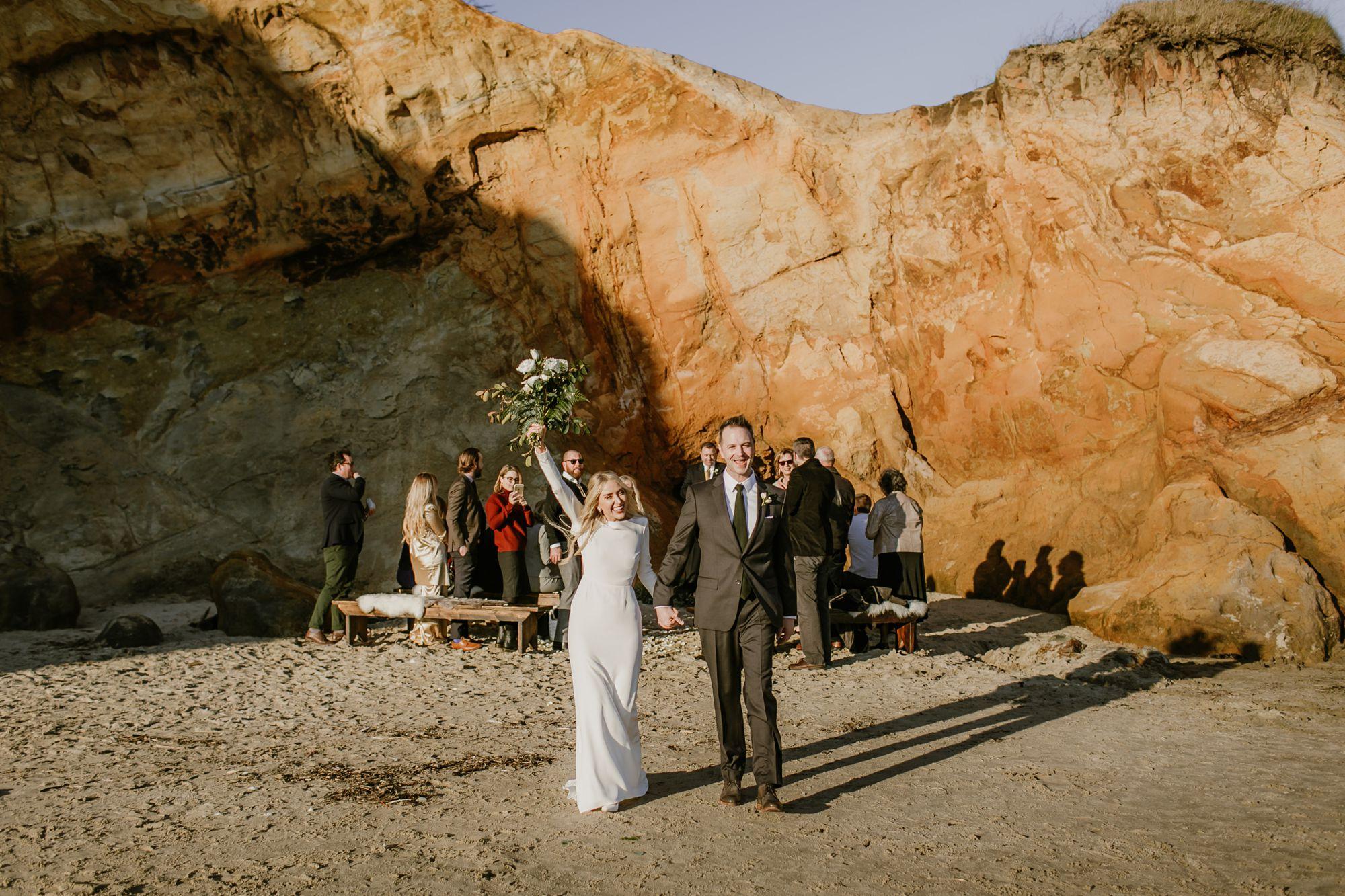 Oregon Coast wedding ceremony