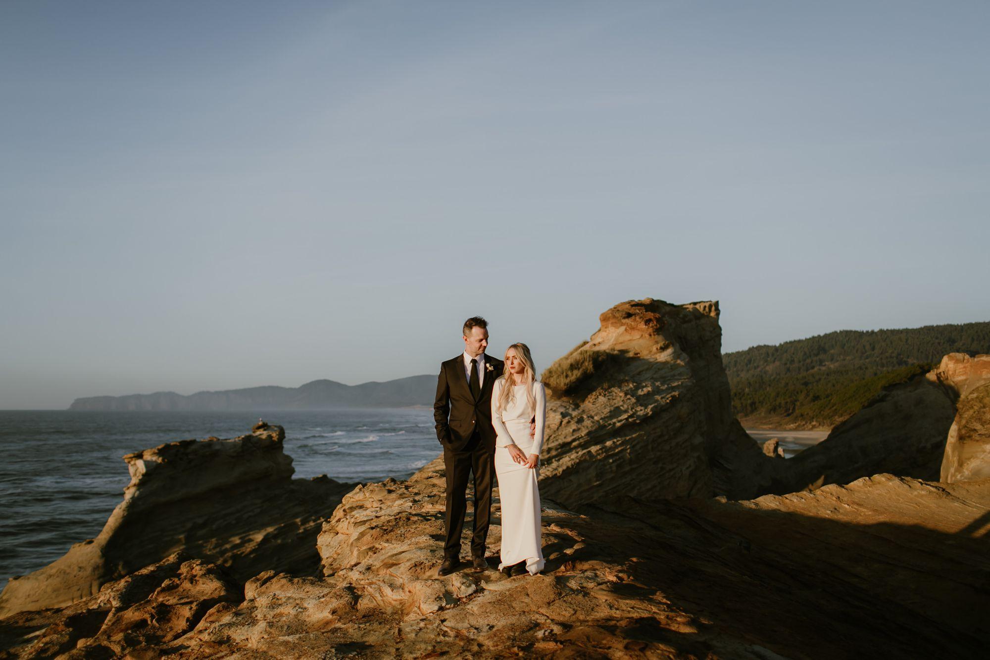 Oregon Coast wedding photo