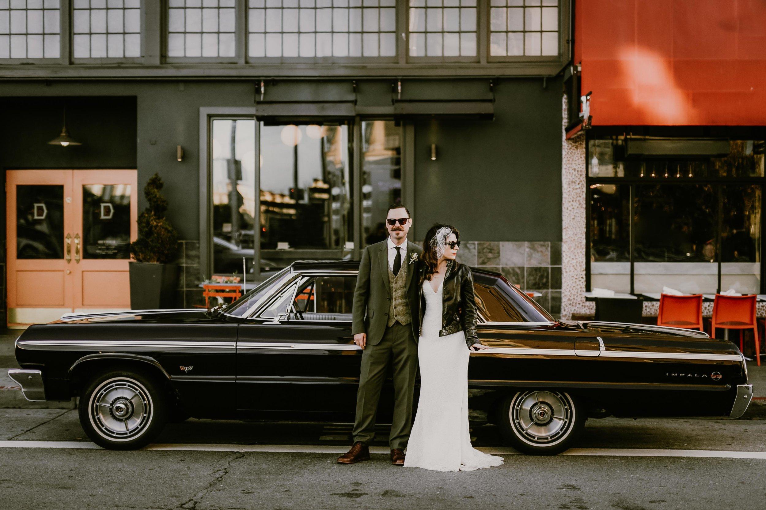 64' Impala Wedding in San Francisco    Sarah + Erik    View Post