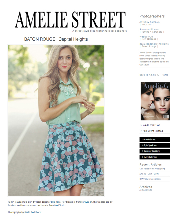 Amelie G Magazine Street Style Feature