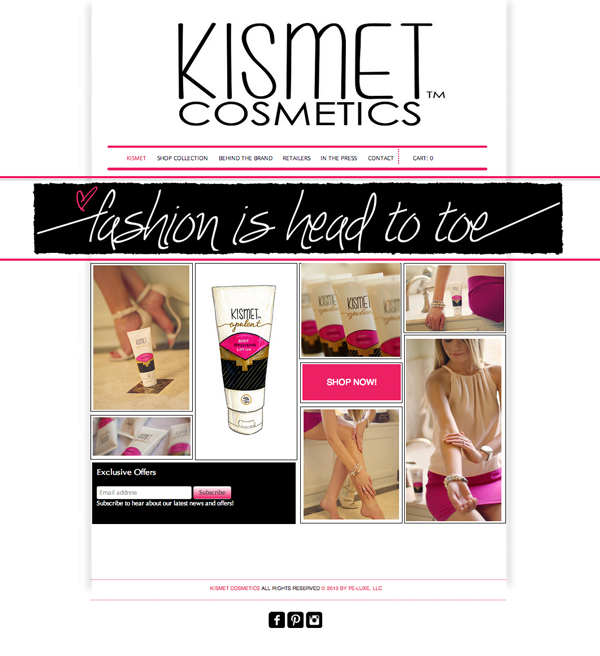 Kismet Cosmetics Homepage Feature