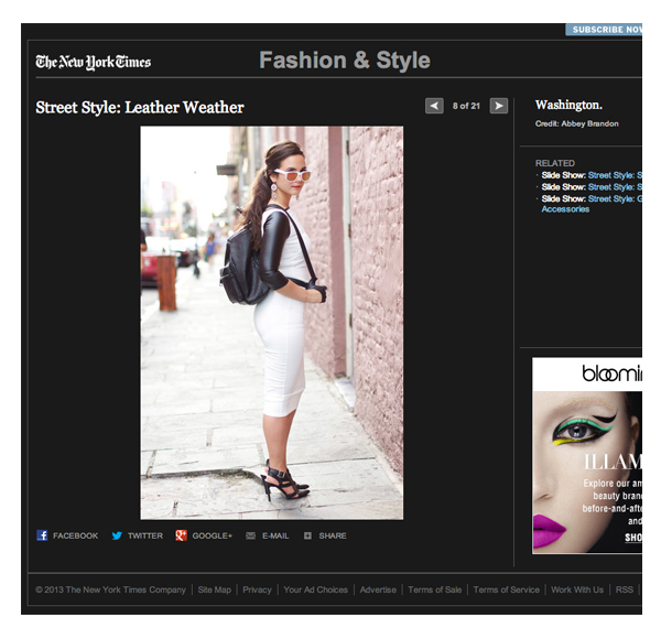 New York Times Street Style Feature