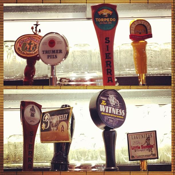 Did you know we have 8 California beers on tap? @sierranevadabeer @lagunitasbeer @trumerpilsusa
