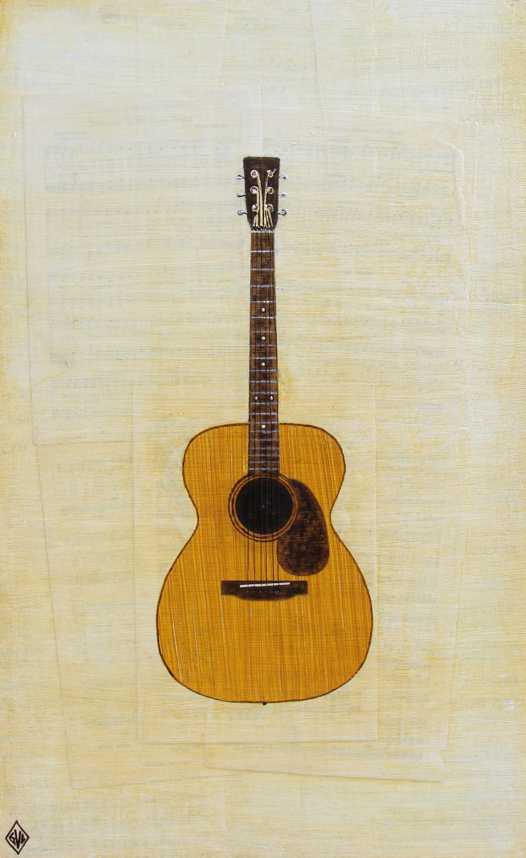 Guitar portrait    collage