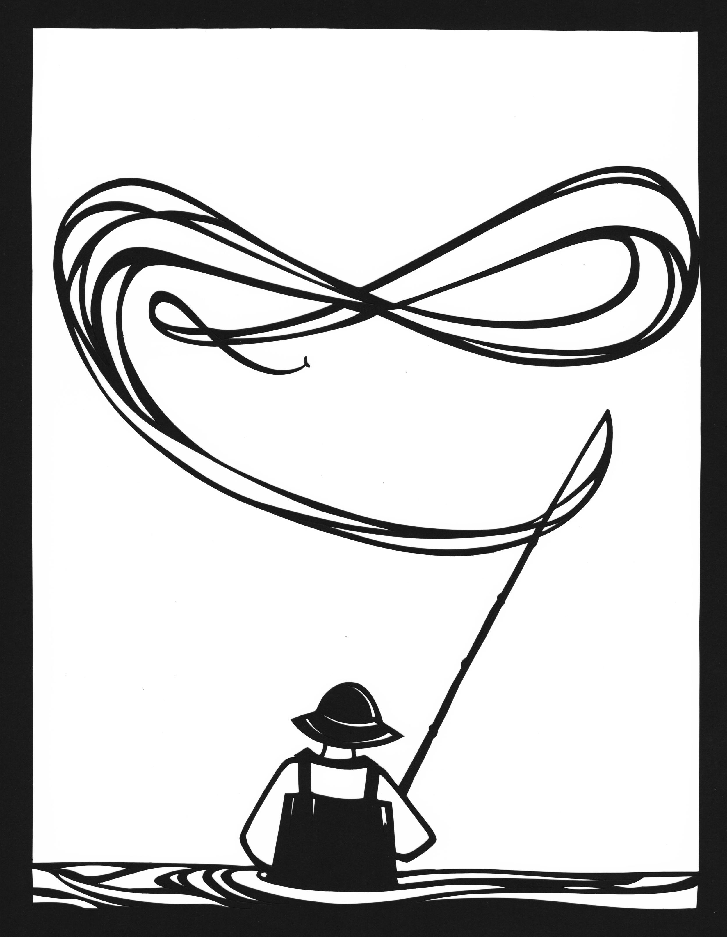 Fisher,   papercut 16x20
